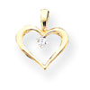 14k AA Diamond heart pendant